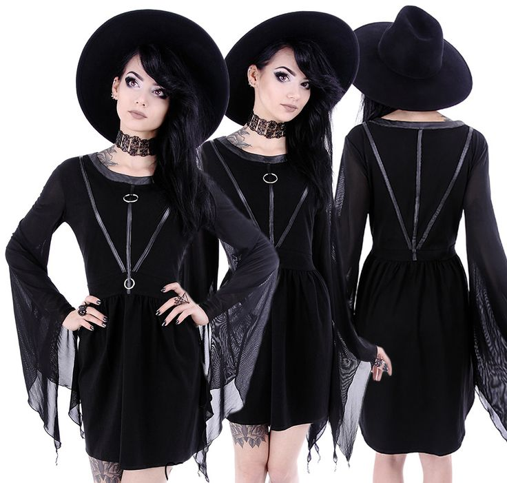 Restyle Coven Tunic Dress Black - £39.99 : From ANGEL CLOTHING