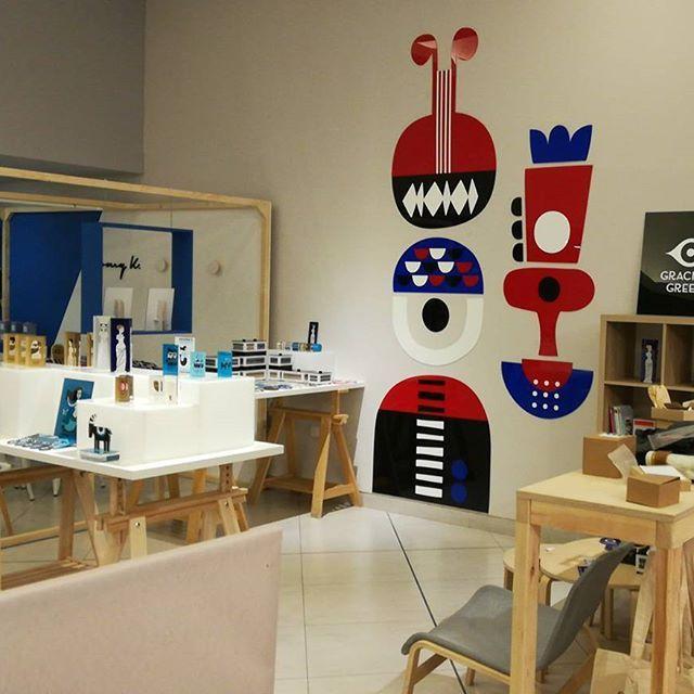 Our #display at @greekbrandnew #2018 #design #tradeshow 🔝#art #installation by @nearchos_polkadot and @polkadot_athens  .  .  .  .  .  #graciousgreece #artcreations #plexiglassart #plexiglasart #silkscreen #screenprint #print#printmaking #handprint #handcraft #madeingreece #greekdesigners ##greekbrandnew #graphicdesign #objects #interior #home #homedecor #giftideas