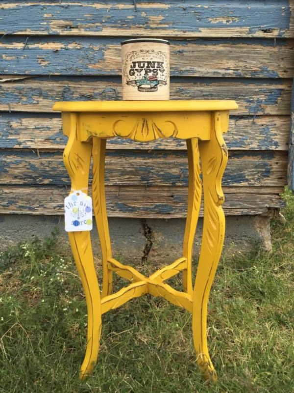 Junk Gypsy Paint. Table painted by The Old Store in Piedmont, OK using Junk Gypsy™ Paint in Granny's Cornbread