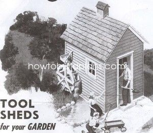 How To Build a Vintage Craftsman Garden Tool Shed Plans