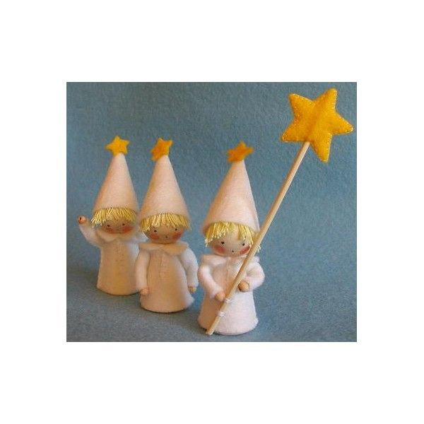 Trois petits lutins étoilés - Décoration de Noël