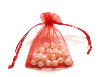 20 Organza Bag, Party Favor Bags, Organza Gift Bag, Small Organza Bag, Baby Shower Bags, Wedding Bags, Red, Pouches