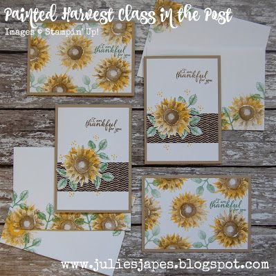 Julie Kettlewell - Stampin Up UK Independent Demonstrator - Order products 24/7: Painted Harvest Class in the Post