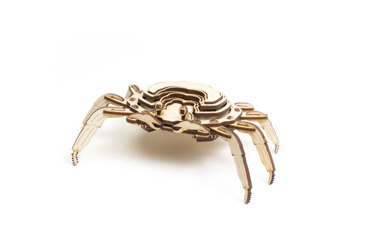 A'ama Crab 3D wood puzzle made in Hawaii.