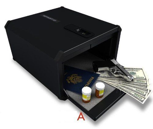 9G Products INPRINT Biometric Fingerprint Handgun & Pistol Safe by 9G. $329.78. The INPRINT warrants the security of all your valuable items, including important documents, jewelry, medication, money, firearms, personal effects and more. The simple interface allows for quick and easy set up and operation. The INPRINT can also mount directly to any flat surface including closets, floors, cabinets and vehicles. Approved by CA department of justice.