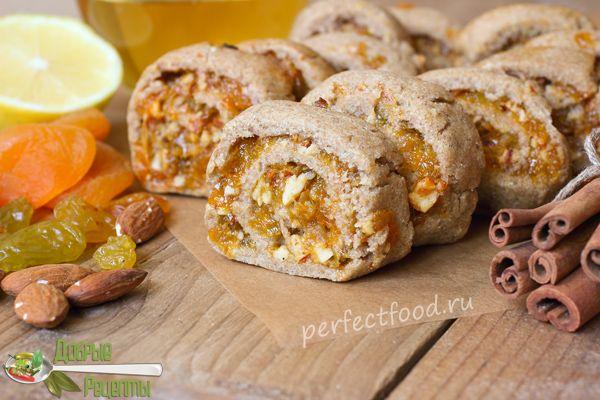 Ржаное Печенье С Сухофруктами — Рецепт Постный