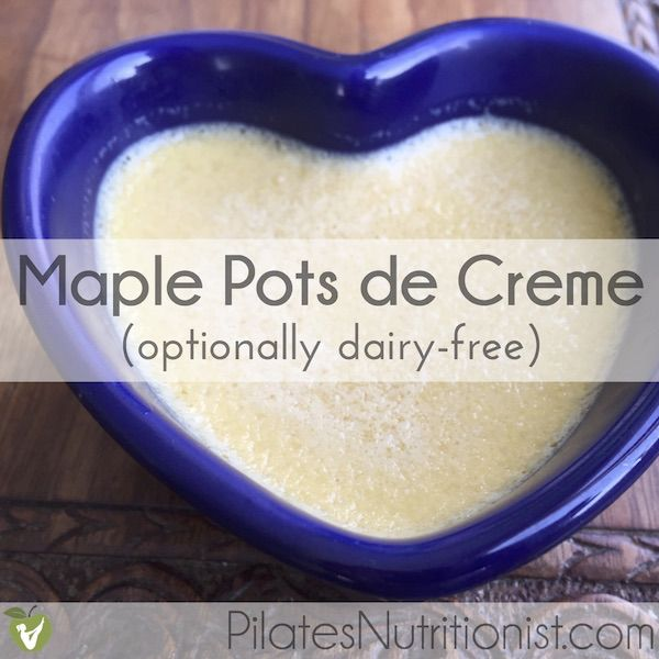 Maple Pots de Creme has 5 (optionally 6) ingredients. You can even ...