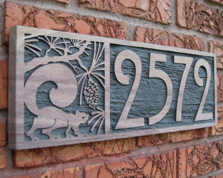 Custom Sandstone House Number Plaques handcrafted in Denver. & 12 best door number images on Pinterest | Ceramic pottery Clay and ...