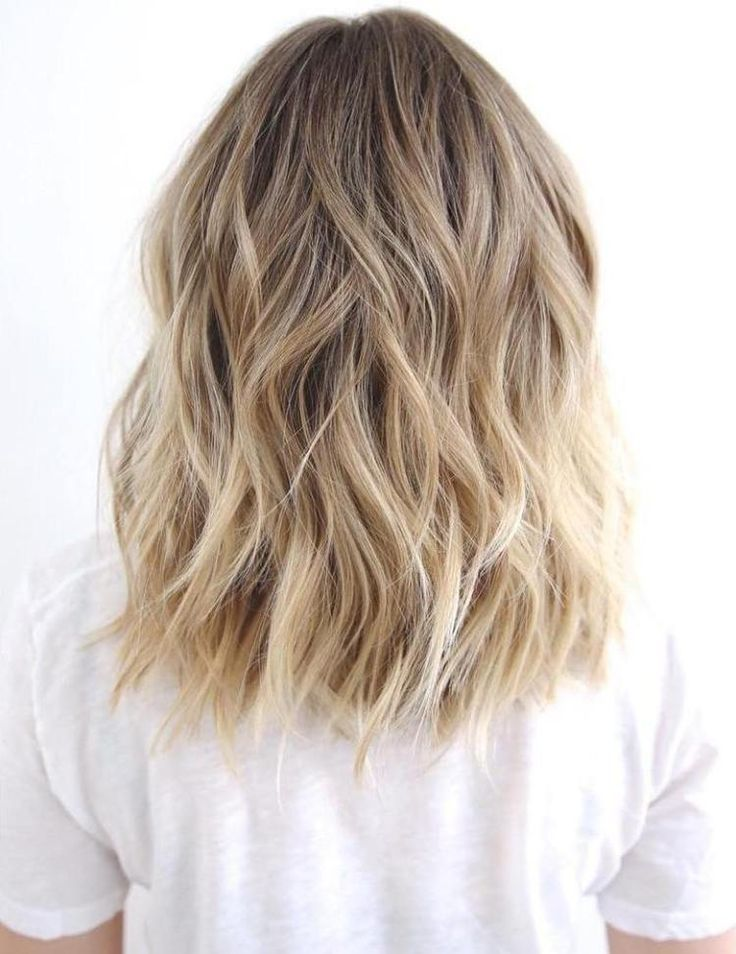 Medium To Long Wavy Brown Blonde Hair. Medium Shag #Hairstyles