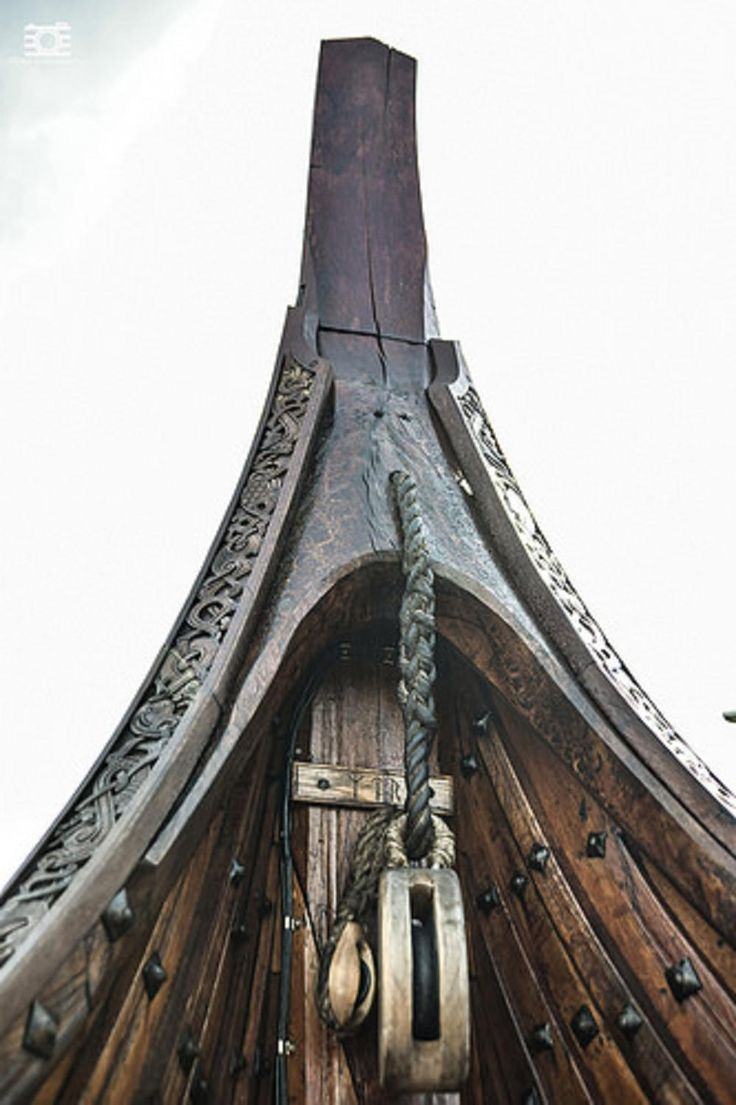 Viking long boat detail. https://www.flickr.com/photos/120727945@N05/14477947657/in/pool-viking_culture/