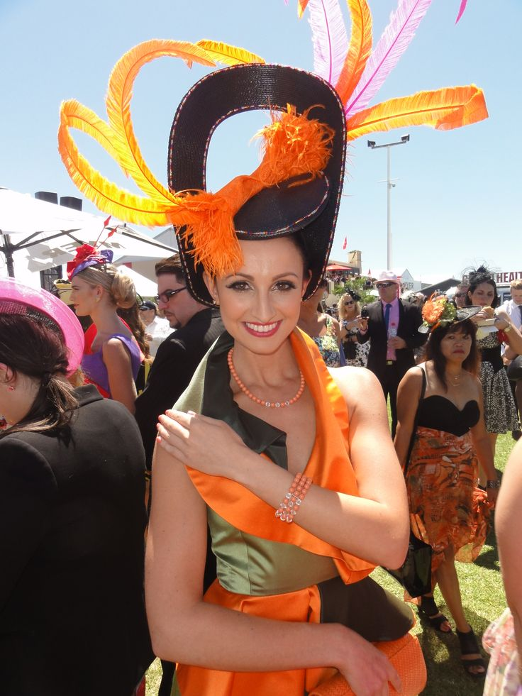 Yana wearing our crystal pearl necklace and triple row crystal pearl bracelet in the 2013 Fashion on the Fields Designer Category. Gorgeous outfit designed and made by Judith Penak at the Melbourne Cup.
