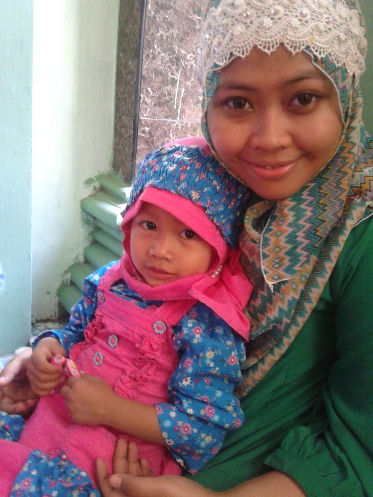 my niece and me. Eid Mubarok 2013