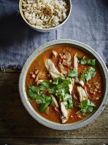 Aromatic Chicken and Peanut Thai Curry from Dean Edward's Feelgood Family Food. The ginger, lemon grass and garlic help this homemade version reach new heights of deliciousness.