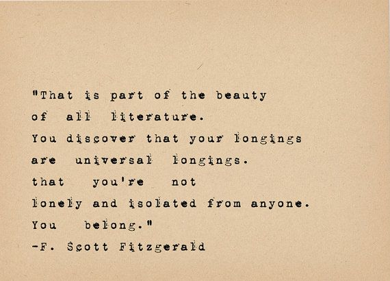 F Scott Fitzgerald Quote - Book Lover Art - Literary Art Quote Print - 1920s…