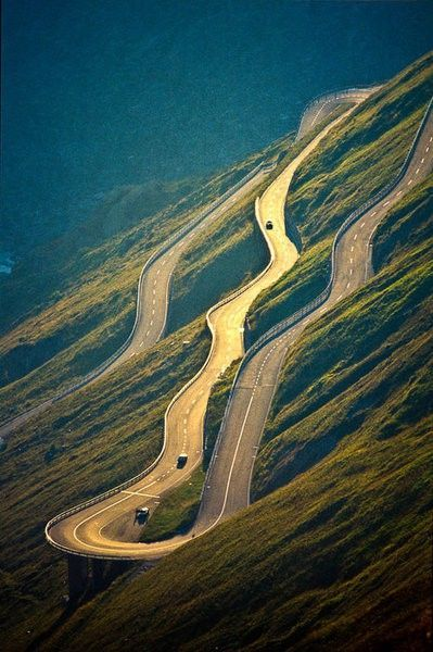 Who gets car sick! But still worth it I think - Travelling the Furka Pass, The Alps, Switzerland