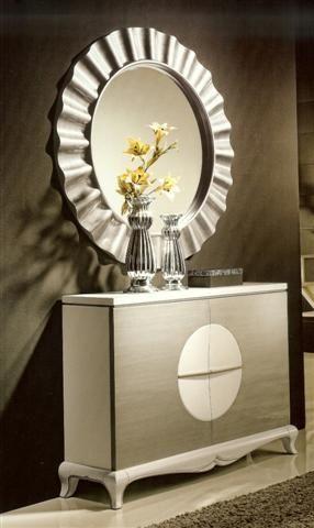 Espejo saturno en color plata