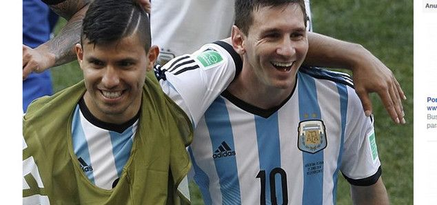 Barcelona forward <3 Messi <3 said he was looking forward to fight in the knockout after that drawvery much , and poked fun of his good friend Sergio Aguero.