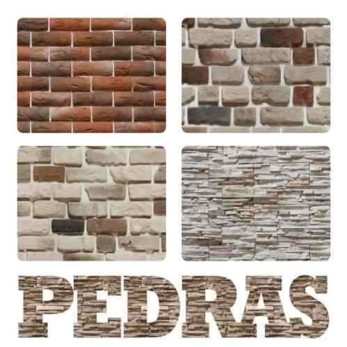 Adesivo De Parede Textura De Pedra Marmore Tijolo