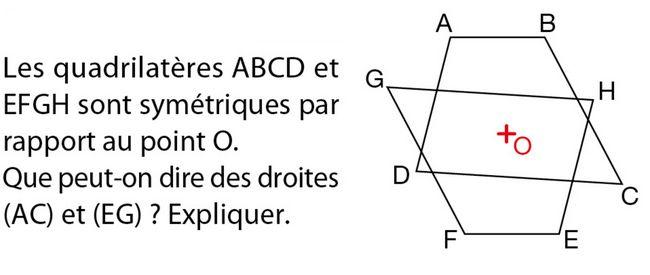 La symétrie centrale : exercices de maths 5ème (cinquième ...