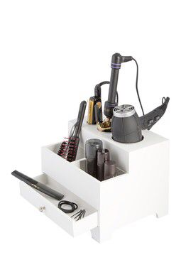 3 Compartment Hair Style Organizer with Power Bar