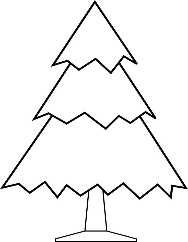 Undecorated Christmas Tree Coloring Page