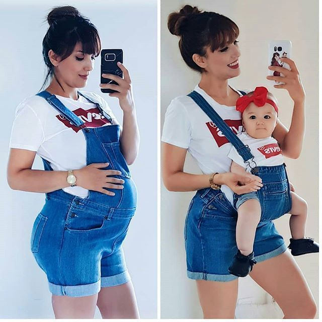 During Pregnanacy and After with a Baby, Cute Phot…