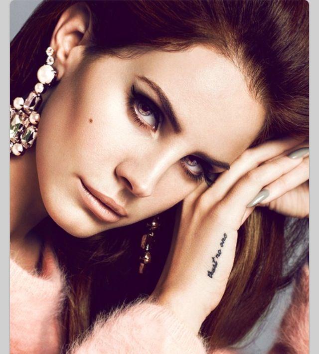 Lana Del Rey trust no one #tattoo #celeb | Tattoos ...