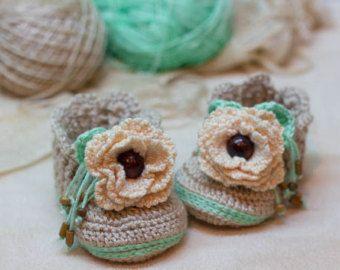 CROCHET PATTERN for Baby Boy blue-brown by crochetbabypattern
