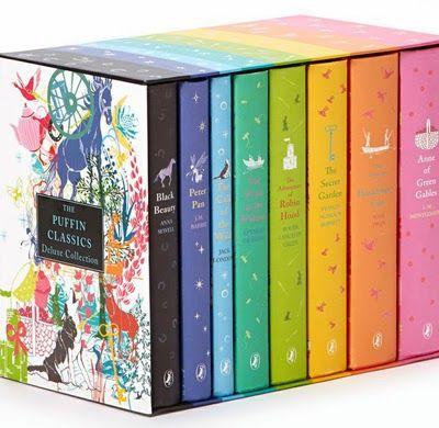 Here are another selection of beautifully designed books. This colourful box set from Puffin Classics was designed by Daniela Jaglenka Ter...