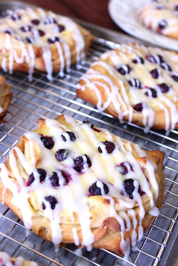 These Blueberry Cheese Danish are buttery, sweet and loaded with fresh blueberries. - Kudos Kitchen by Renee