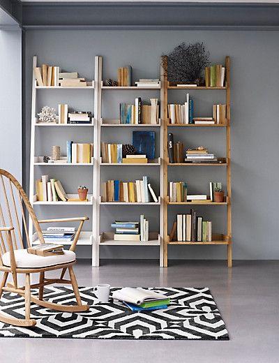 step ladder shelving units in white blue or natural wood. Black Bedroom Furniture Sets. Home Design Ideas