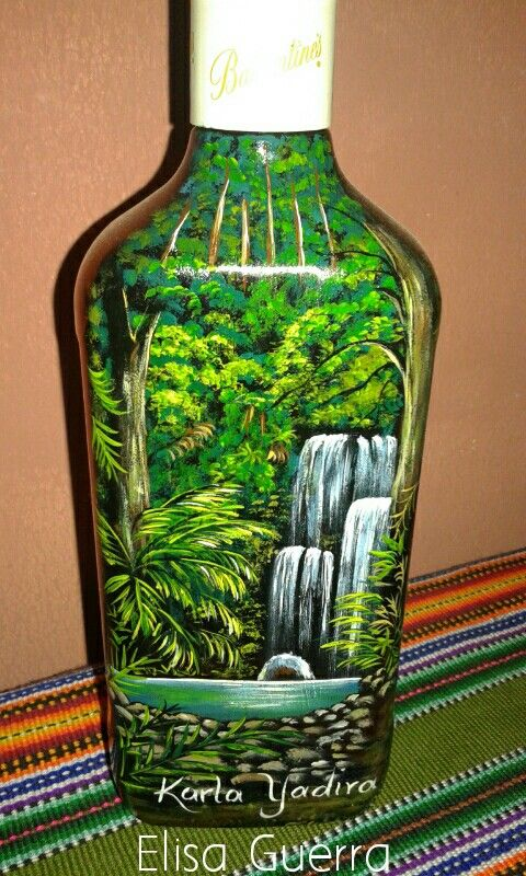 Decorated Glass Bottles 34 Best Painted Bottles Images On Pinterest  Painted Bottles