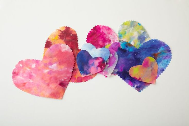 how to make melted crayon heart