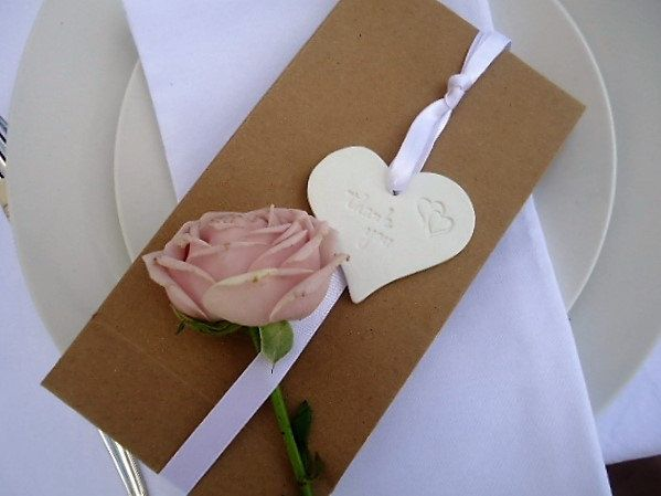 Wedding Lolly Bags with Clay Thank you Ornaments - Set of 25 by MYMIMISTAR on Etsy