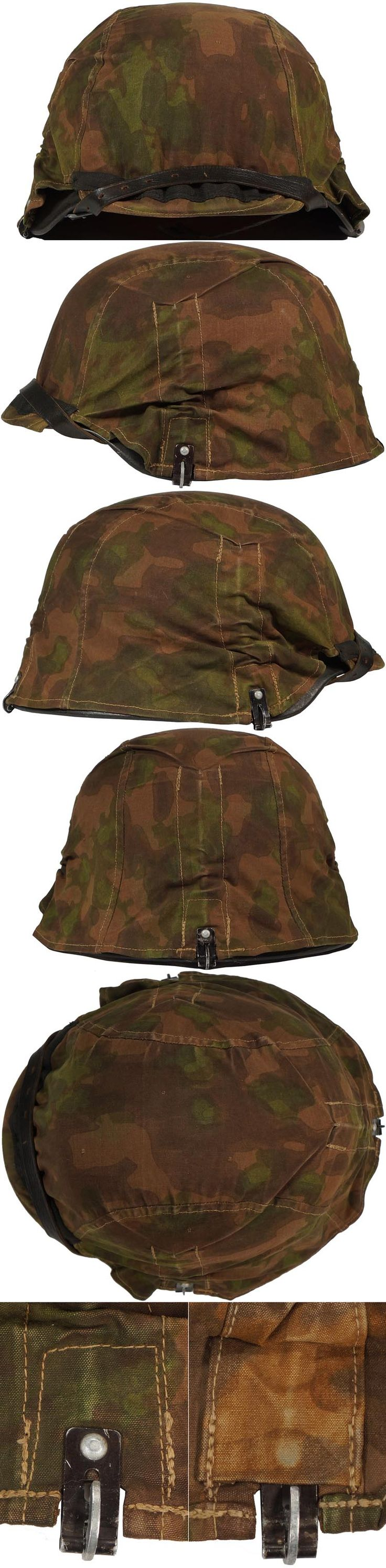 """Original SS """"BLURRED EDGE"""" CAMOUFLAGE HELMET COVER. (Stahlhelmbezüge)  Check out my website for more original WW2 items: http://www.vantiques.nl"""