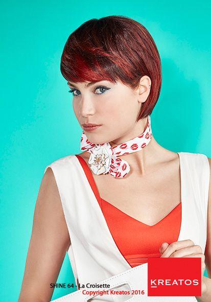 Kreatos kapsels voor vrouwen 2016 - La croisette - haar kort rood gekleurd