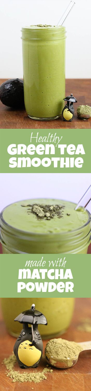 The most healthy Green Tea Smoothie you can make at home. Made with Matcha Powder!