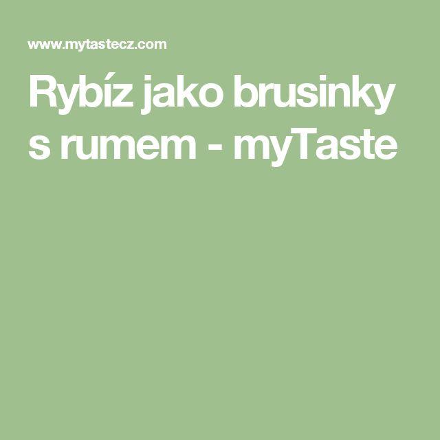 Rybíz jako brusinky s rumem - myTaste