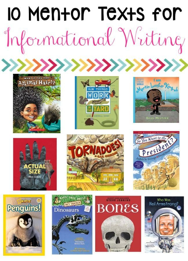 Informational writing is best with mentor text activities! It makes the writing prompts much more creative! (Freebie Included)