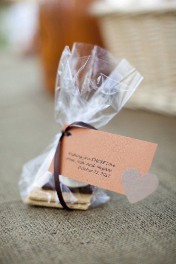 This Could Be A Cute Wedding Favor Like How You Did It For The Pumpkin Party Do Guys Smores
