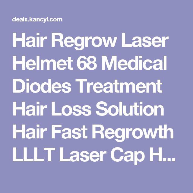Hair Regrow Laser Helmet 68 Medical Diodes Treatment Hair Loss Solution Hair Fast Regrowth LLLT Laser Cap Hair Growth Free glass