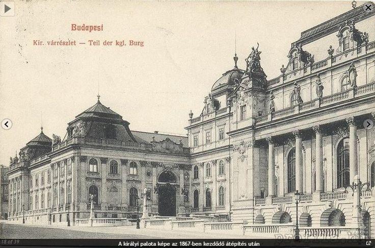 Budavári Palota - A Hunyadi-udvar - Udvar részlet (jobbra) a Nagy Bálterem homlokzatával