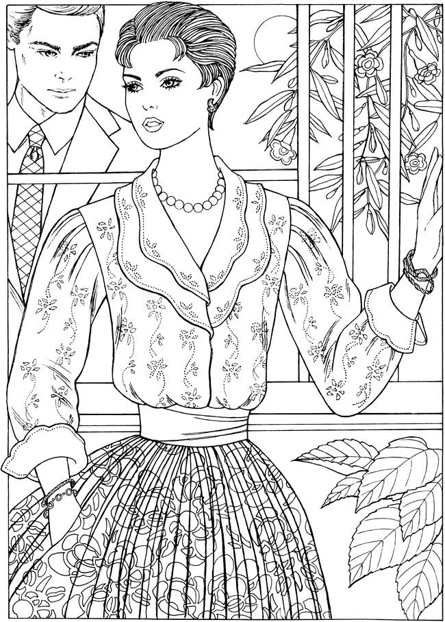 450 best coloring pages mode people images on pinterest picasa Confident Coloring Pages Sturdy Coloring Pages Lady Desktop Wallpaper