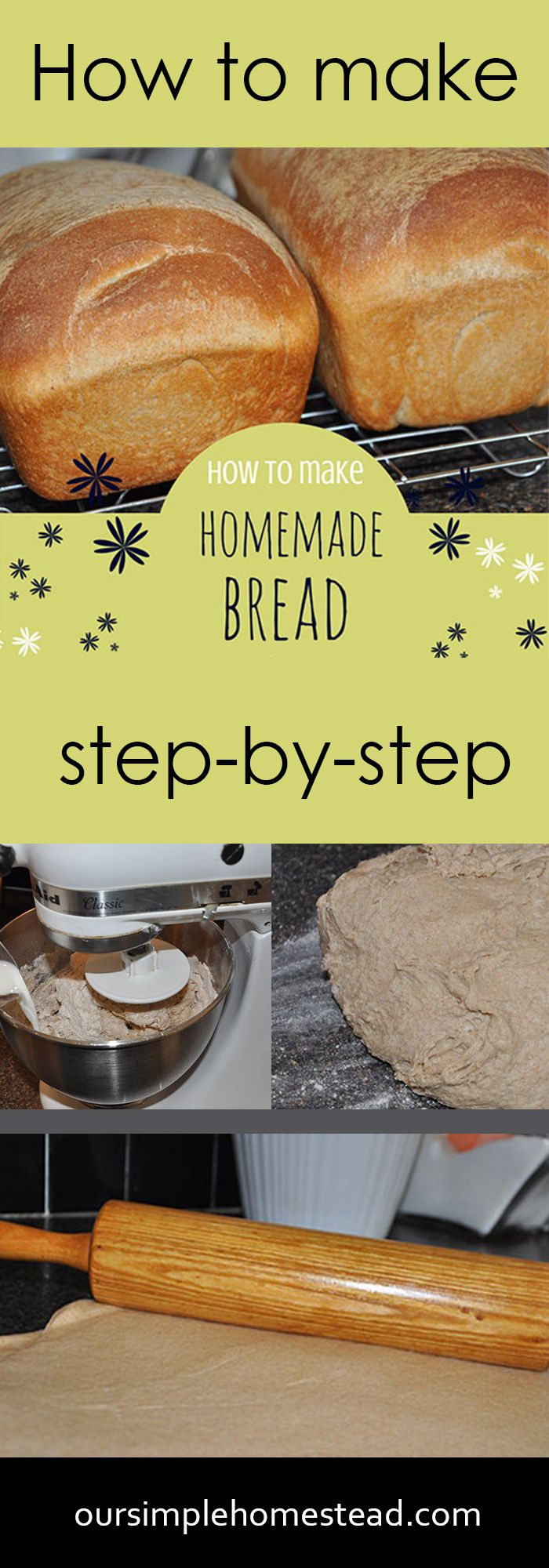 How to Make Homemade Bread - There is nothing like the smell of yeast rising or the fresh baked smell of a loaf of homemade bread cooling in the kitchen.