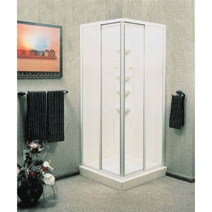 American shower bath corner entry shower kit 401060 for Small bathroom kits