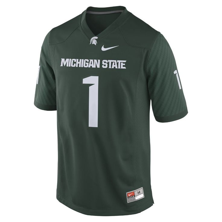 Nike College Game (Michigan State) Men's Football Jersey Size 2XL (Green)