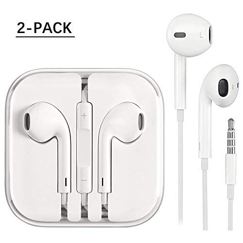 2 Pack Aux Headphones Earphones Earbuds Veseta Qili 3 5mm Aux Wired Headphones Noise Isolating Earphones Built In Microphon Iphone Earphones Earbuds Earphone