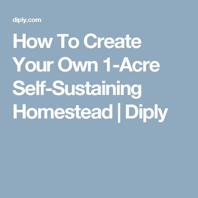How To Create Your Own 1-Acre Self-Sustaining Homestead   Diply