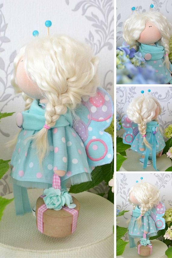 Butterfly doll Handmade doll Interior doll by AnnKirillartPlace