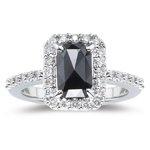 Amazon.com: 0.30 Cts White Diamond & 0.85 Cts Black Diamond Ring in 14K White Gold-6.5: Jewelry